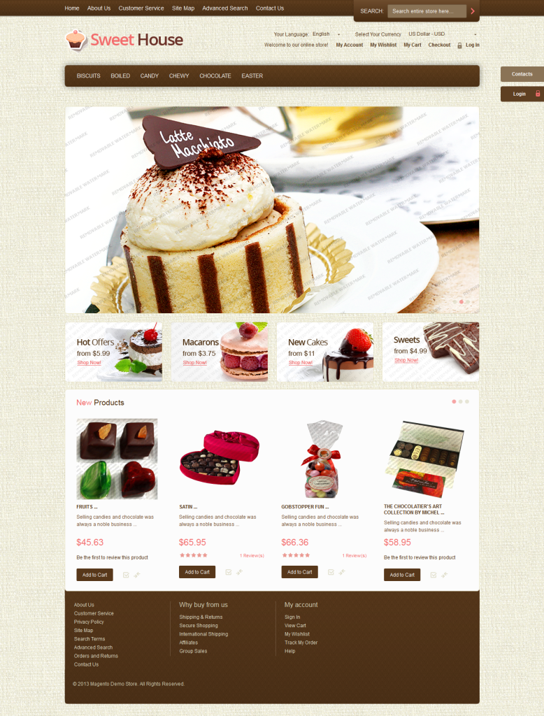 Sweet House free Magento Ecommerce Theme