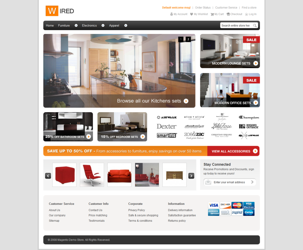 Wired free Multi Pupose Magento Theme