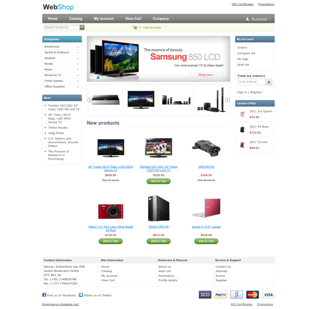 Web Shop Free Multi purpose CS-Cart Theme