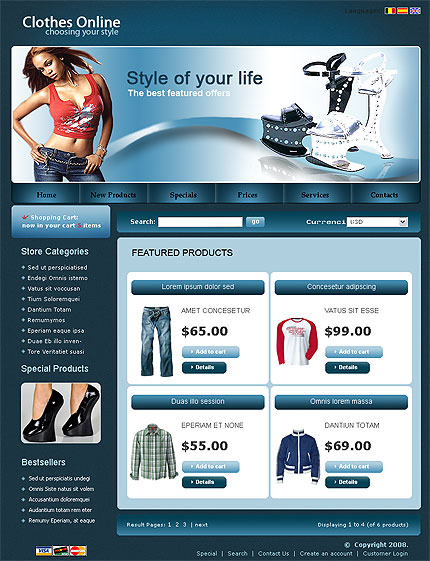clothes online store